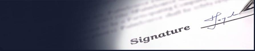 persons signature